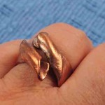 Ring aus Bronzeclay