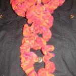 ausgefallener Schal in Kumihimo Technik