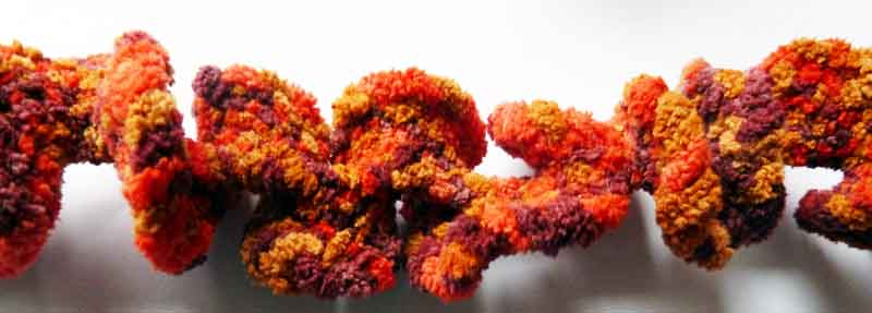 Curly-Twist Schal geflochten