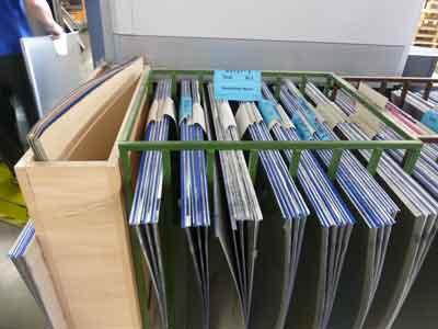 Hier sind die Druckplatten von meinem Buch
