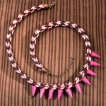 Pink-Spice – Kumihimo – Kette