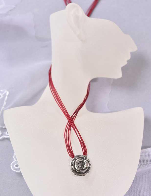 Rosen-Anhänger aus Artclay Silber