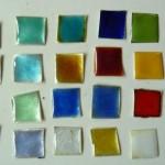 Transparente Emailfarben auf Silber