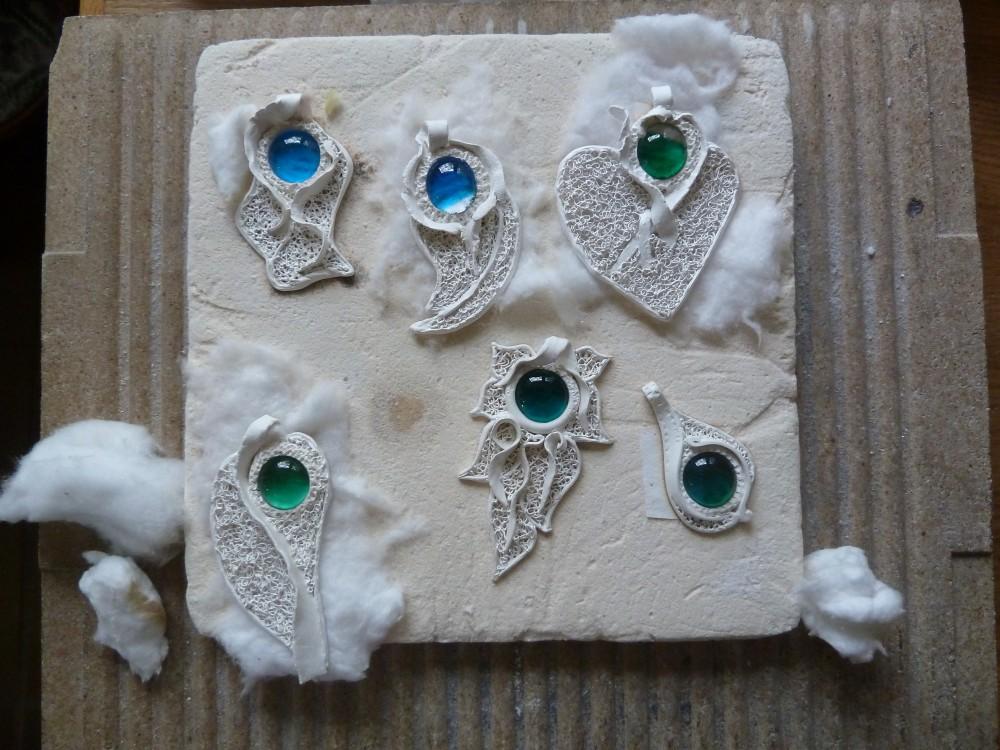 Artclay Silber Teile aus einem Kurs von 2011
