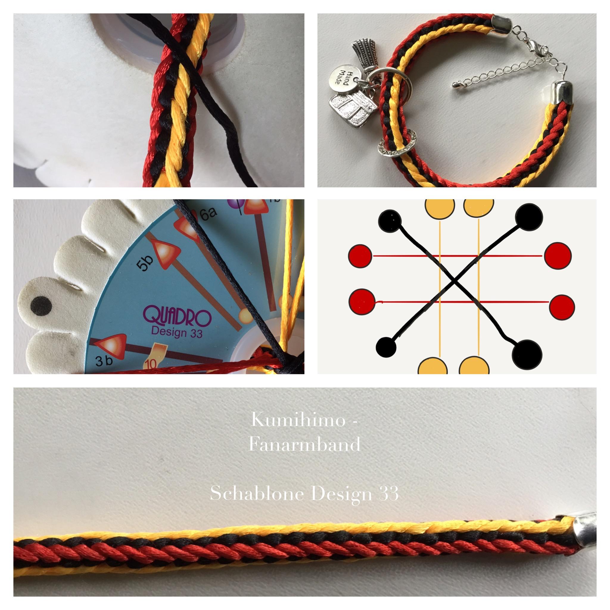 Kumihimo Fan-Armband