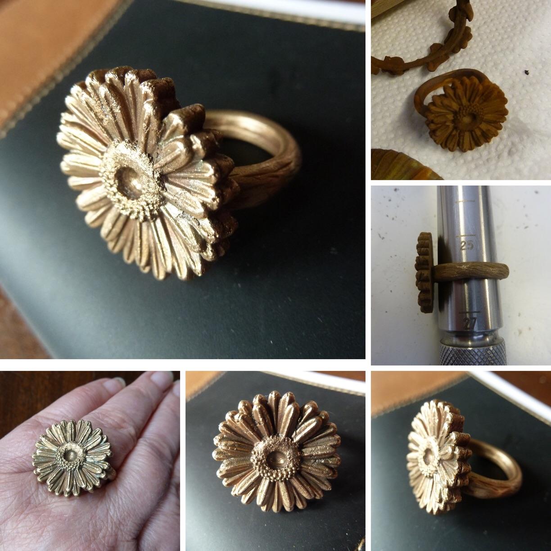 Ring aus Sunny Bronze