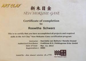 Mokume gane Zertifikat