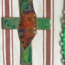 Kreuz aus Kupfer mit Efcolor gestaltet