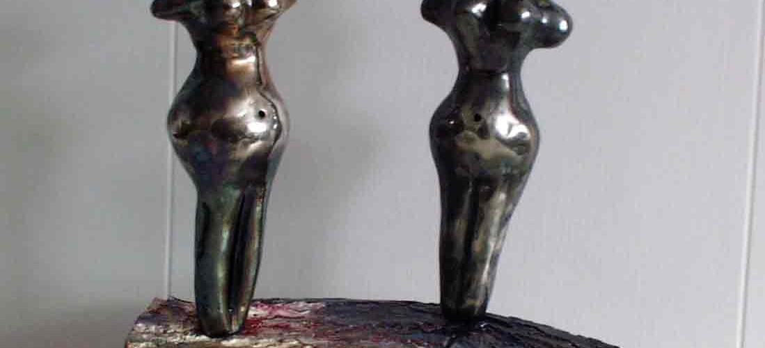 Skulptur aus Silber