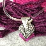 Metalclay Schmetterlingsherz für Liebhaber