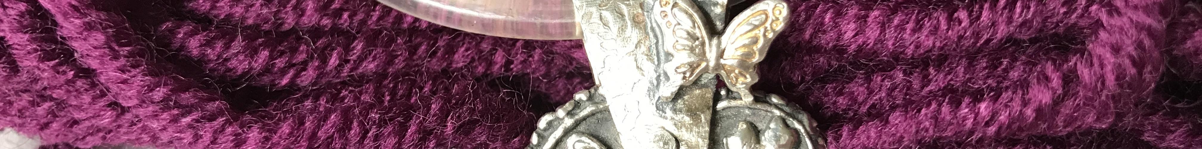 Metalclay Schmetterlingsherz