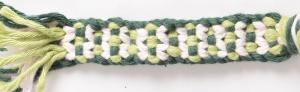 Kumihimo Design 15, Variante Blümchen